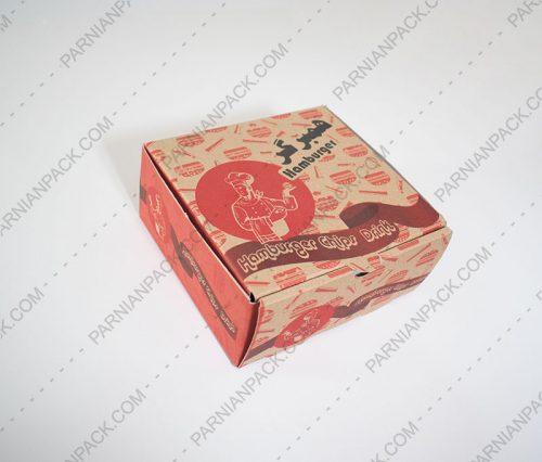 جعبه برگر کرافت مربعی