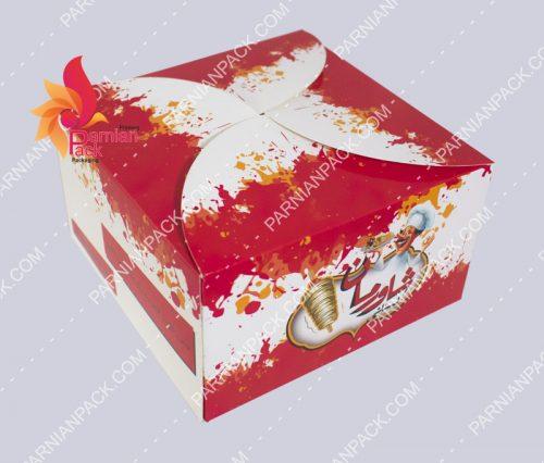جعبه برگر درب هلالی شاورمان