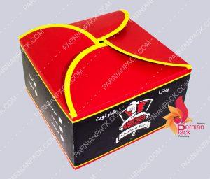 جعبه برگر درب هلالی شارلوت