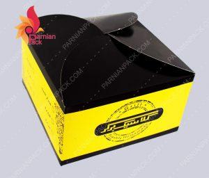جعبه برگر درب هلالی کلاسیک برگر