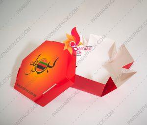 جعبه برگر شش ضلعی برگرنان