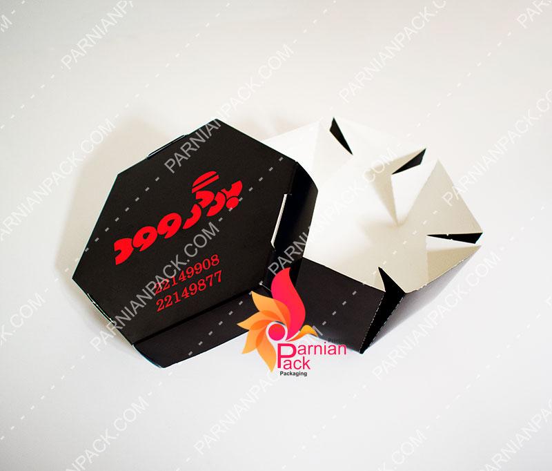 جعبه برگر شش ضلعی برگروود