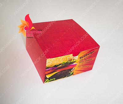 جعبه برگر درب از بالا 3