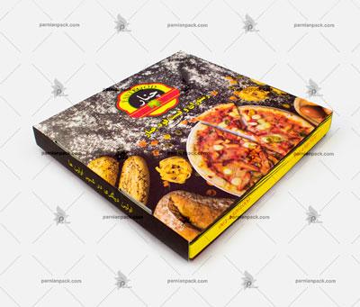 جعبه پیتزا مربعی بزرگ چاپ افست