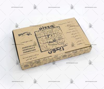 جعبه پیتزا پیده کرافت چاپ مشکی