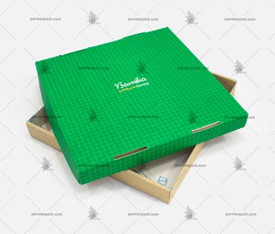 جعبه پیتزا زیره کرافت چاپ سبز