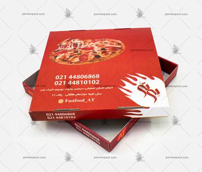 جعبه پیتزا چاپ افست دو تکه مربعی