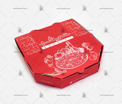 باکس شش ضلعی چا قرمز تک رنگ