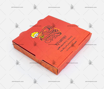 جعبه پیتزا معمولی چاپ قرمز