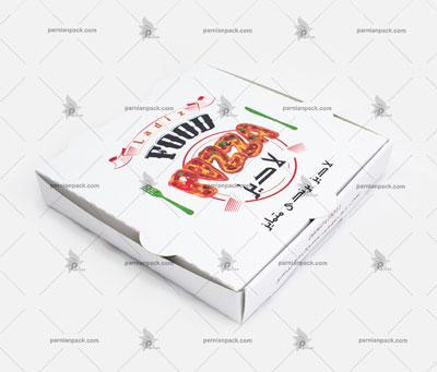 جعبه پیتزا سفید چاپ برند اختصاصی