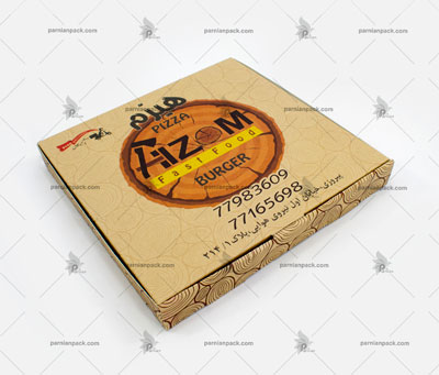 جعبه پیتزا کرافت خانواده چاپ رنگی افست