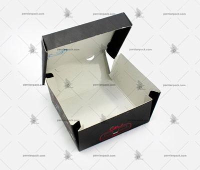 جعبه برگر چاپ اختصاصی مشکی سفره ای1