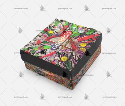 جعبه کرافت برگر چاپ اختصاصی مدل سفره ای
