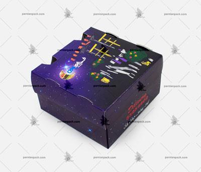 جعبه برگر چاپ اختصاصی آبی1