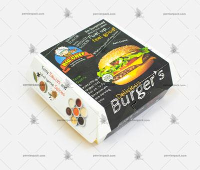 جعبه همبرگر مدل صدفی مکدونالدی