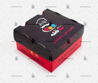جعبه برگر چاپ اختصاصی قرمز مشکی سفره ای2