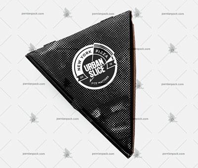 جعبه پیتزا اسلایسی مثلثی مشکی