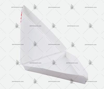 جعبه پیتزا مثلثی سفید