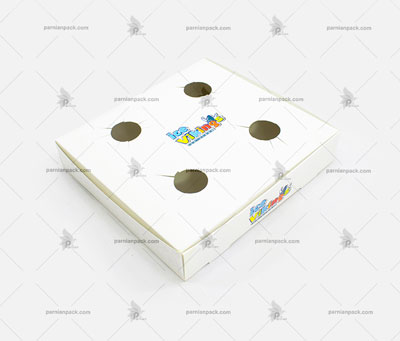 جالیوانی مقوایی 4 تایی سفید چاپ اختصاصی