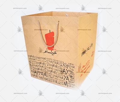 پاکت کرافت پیتزا چاپ دو رنگ43