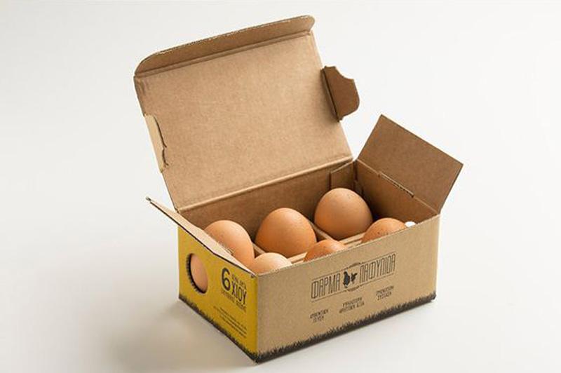 بسته بندی تخم مرغ محلی